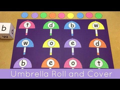 Umbrella Roll and Cover File Folder Game For Preschool and Kindergarten