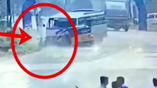 Live Accident | Auto Driver  Mistakes | Make Big accident