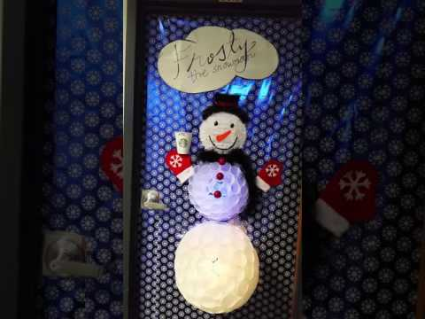 Frosty The Snowman Door At Work Youtube
