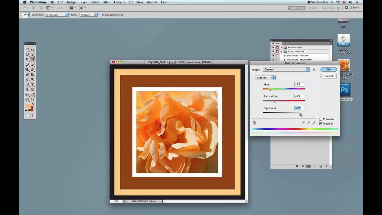 how to create the frame in photoshop