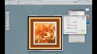 How To Create A Wood Frame In Photoshop Using The Wood-frame Action Set Video #1
