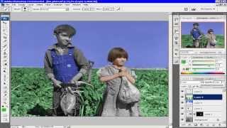 Photoshop cs3|Превращаем старое черно-белое фото в цветное