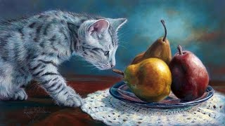 Коты -   художница Lucie Bilodeau