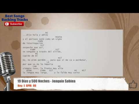 19 Días Y 500 Noches - Joaquin Sabina Vocal Backing Track with chords and lyrics