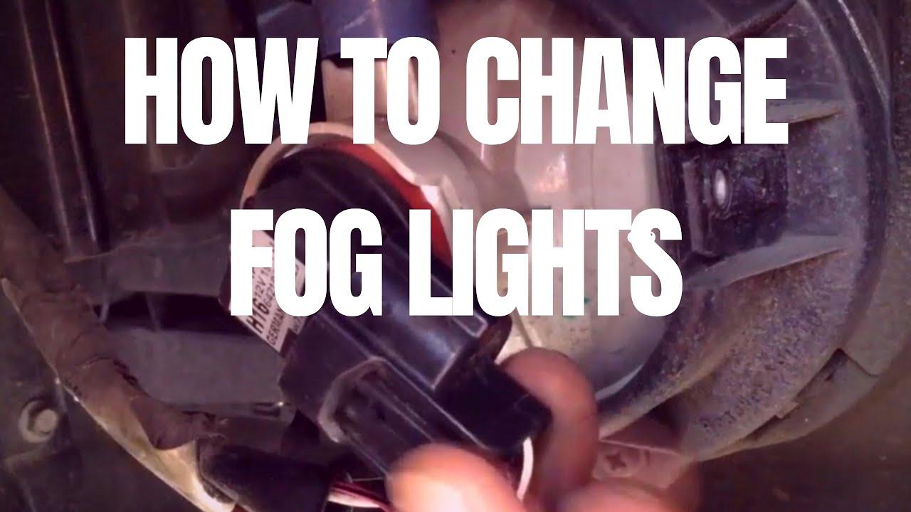 How To Change Fog Lights Toyota Wigo Youtube