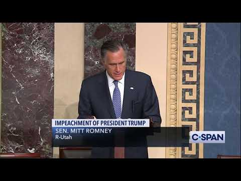 FULL REMARKS -- Senator Mitt Romney to vote to convict President Trump on Abuse of Power
