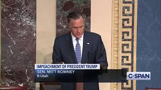 FULL REMARKS -- Senator Mitt Romney to vote to convict President Trump on Abuse of Power