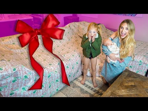 Everleigh and Savannah had NO idea I was surprising them with this GIANT gift!!!