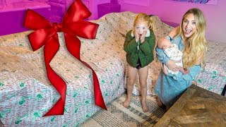 Everleigh and Savannah had NO idea I was surprising them with this GIANT gift!!! thumbnail