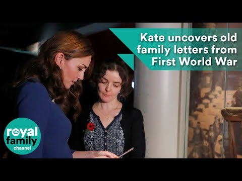 Kate uncovers old family letters from the First World War