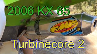 FMF Turbinecore 2 on Kawasaki KX 65