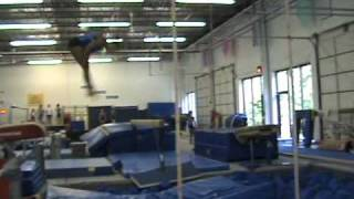 Shannon Mitchell Vault Training 3 - Front Handspring Front Pike Half
