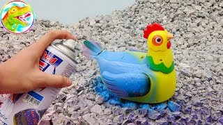 Learn colors with your chickens, cows, elephants, crocodiles - children toys H1047W ToyTV