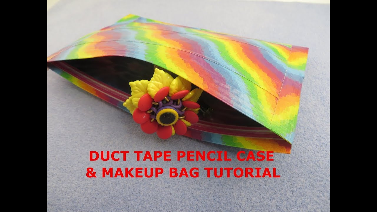 Diy Easy Duct Tape Pencil Pouch Makeup Bag