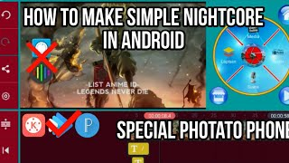 How to make simple Nightcore In android