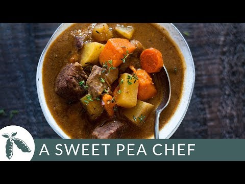 Healthy Slow Cooker Beef Stew | Easy Slow Cooker Recipe | A Sweet Pea Chef
