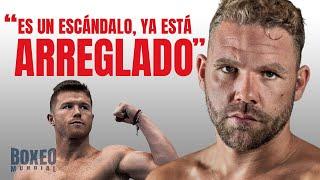 Billy Joe Saunders cree que la pelea ante Canelo está arreglada y explica los motivos.
