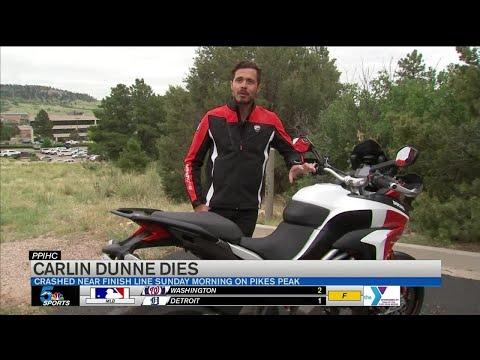Motorcycle racer Carlin Dunne dies following crash in Pikes Peak International Hill Climb