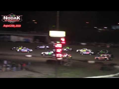 Nodak Speedway IMCA Stock Car A-Main (8/25/19)