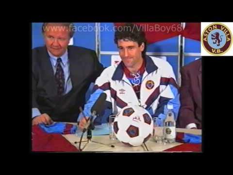 Dean Saunders Signs for Aston Villa Sept 1992