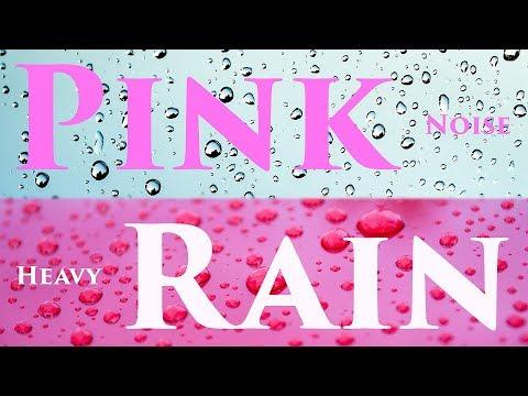 Pink Noise & Heavy Rain   Sleep, Noise Blocker   *Black Screen*