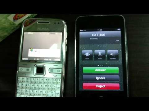 IPOD Call to Nokia E72 have isuue (SIP PHONE)