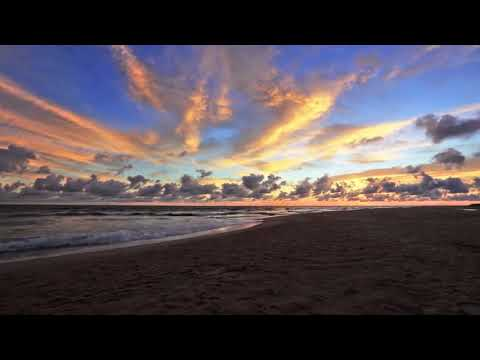 Beautiful Sunrise Beach Sky Cloudscape Time lapse | Royalty Free HD Stock Travel Beach Video Footage
