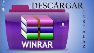 Descargar e Instalar Winrar (32 y 64 bits) full en español