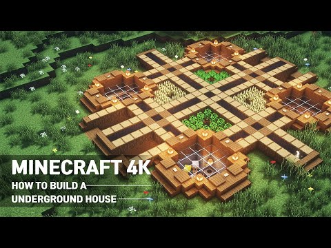 Minecraft: How To Build A House Tutorial :: Underground House #106