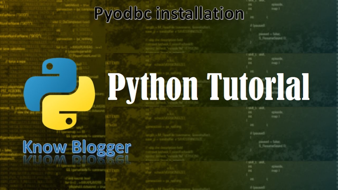 How to install pyodbc | how to install pyodbc for python 3 7 | in python |  in windows