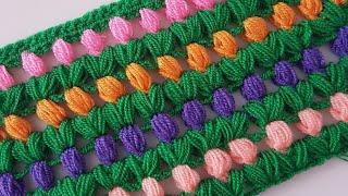 Lale Lif / Battaniye /Şal / Crochet Tulip Blanket, Shawl