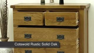 Cotswold Rustic Solid Oak 2+3 Drawer Chest