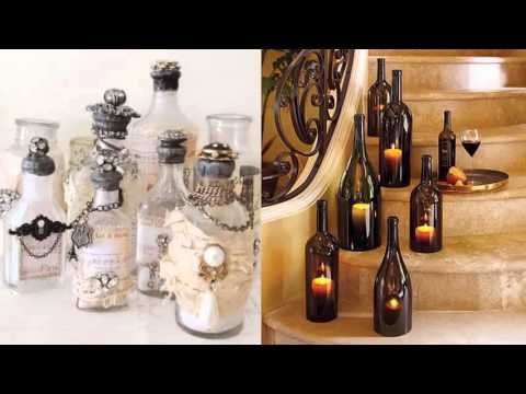 Diy bottle of glass art home decor ideas beautiful for Glass home decor