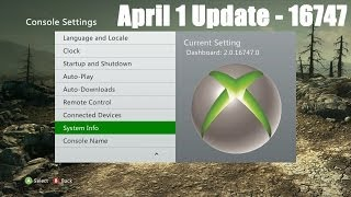 Xbox 360 Dashboard 16747 (April 2014) - Info & Updates!