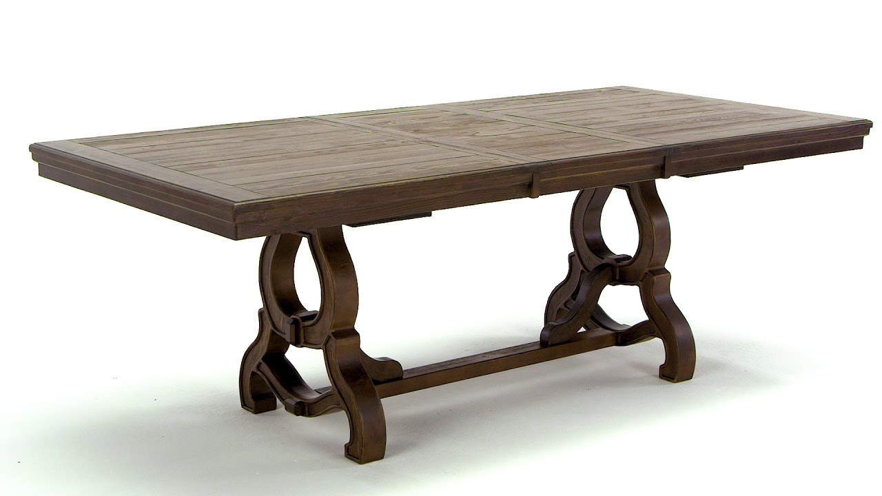 Ashley homestore wendota dining room table youtube for Dining room tables you tube