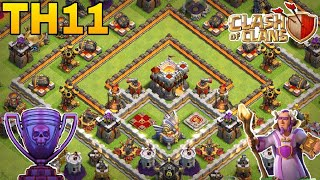 th11 trophy base 2018/coc th11 anti 1 star/anti 2 star trophy pushing base 2018/clash of clan