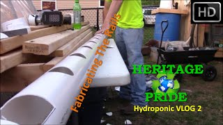 Hydroponic Rail System Build - VLOG 2 by...