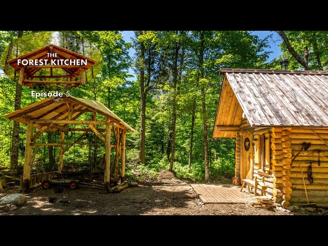 Rock and Roll Barbecue BBQ  | The Forest Kitchen | Off Grid Log Cabin Build, Ep.5 S1