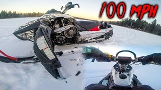 FASTEST SNOW MOBILE ACCIDENT! *100 MPH*