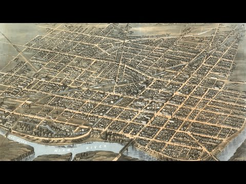 Dayton Ohio History and Cartogarph (1870)