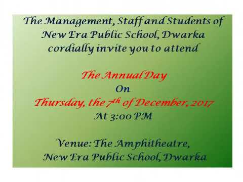 Invitation Card For Annual Day