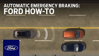 Pre-Collision Assist With Automatic Emergency Braking | Ford How-To | Ford