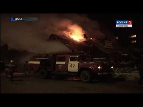 В Мантурове в результате пожара 14 человек едва не остались без крова