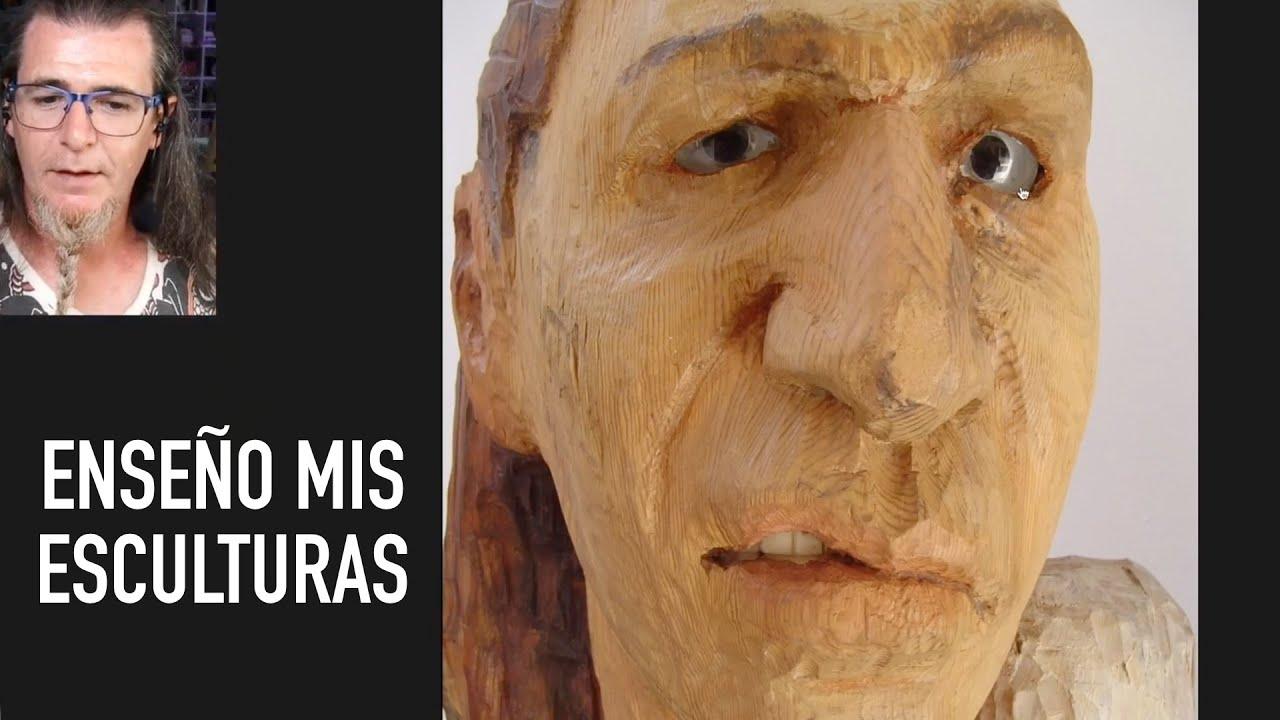 ENSEÑO LAS ESCULTURAS QUE HICE EN BELLAS ARTES. MÁRMOL, MADERA, ESCAYOLA DIRECTA, BARRO.