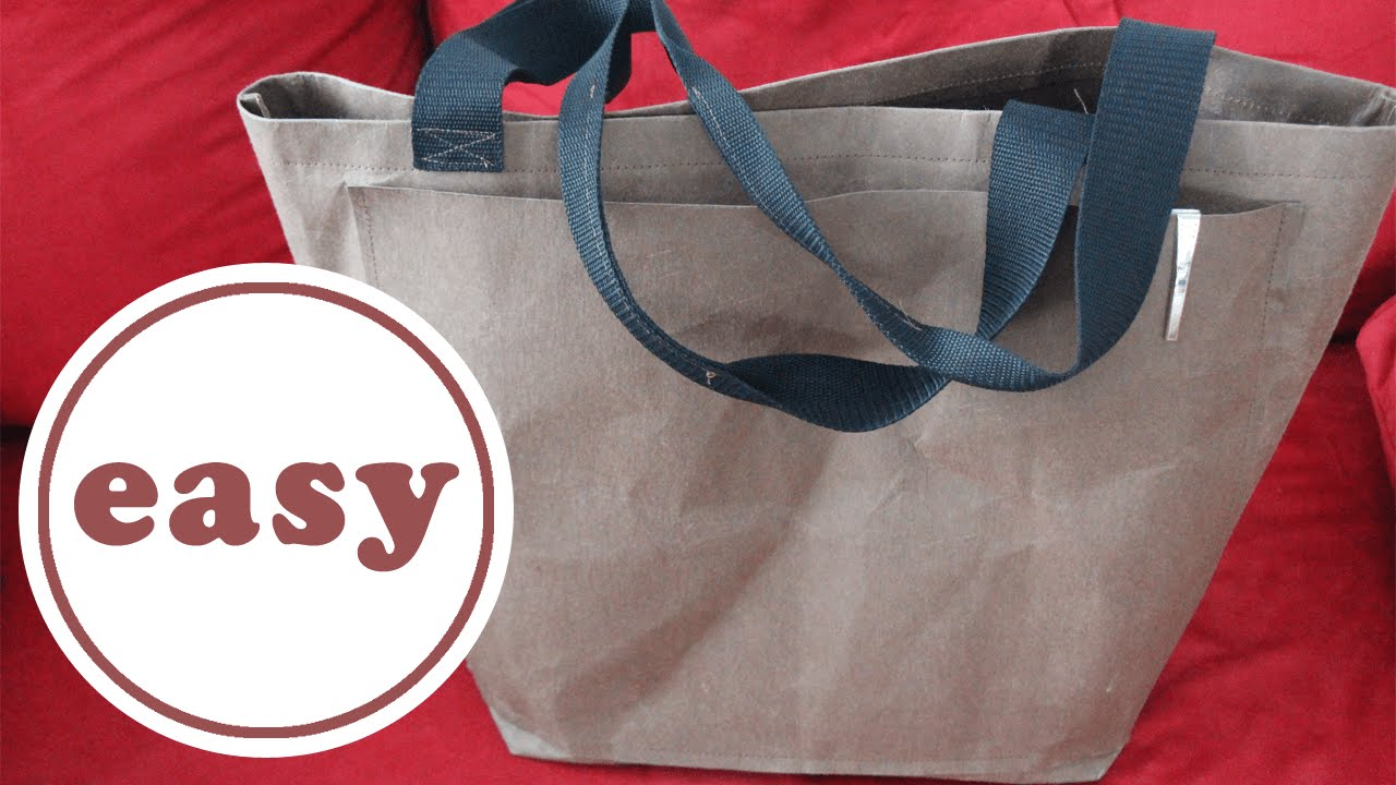 Einkaufstasche aus Snap Pap nähen | DIY | Schnittmuster gratis ...
