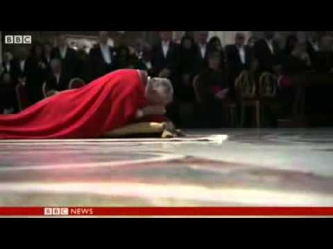 Pope Francis leads Good Friday rite at Colosseum in Rome.