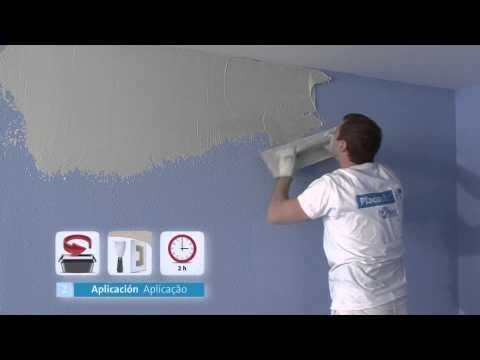 Como alisar una pared de gotel con yeso mecafino - Pintar paredes estucadas ...