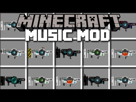 Minecraft MUSIC GUN MOD / FIGHT WITH MUSIC AND SURVIVE THE PLAYLIST!! Minecraft