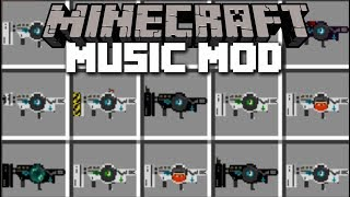 Minecraft MUSIC GUN MOD / FIGHT WITH MUSIC AND SURVIVE THE PLAYLIST!! Minecraft