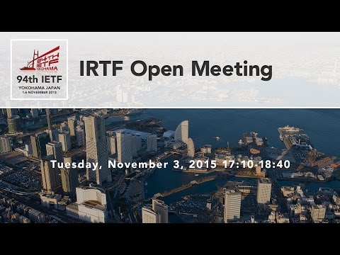 IETF 94 - IRTF Open Session (ANRP Awards)